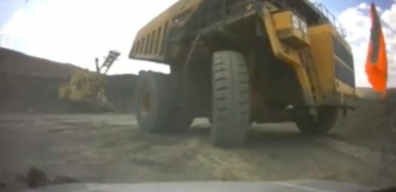 Dash Cam Captures Moment a Giant Mining Truck Crushes an Occupied SUV