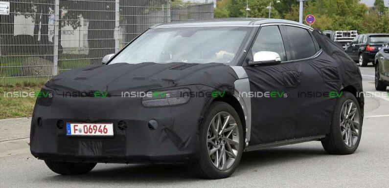 Genesis JW EV Snapped Still Testing Under Full-Body Camouflage
