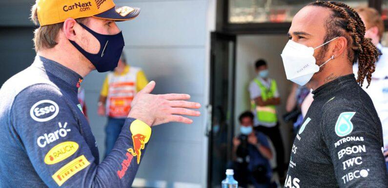 Hamilton and Verstappen share post-race DMs