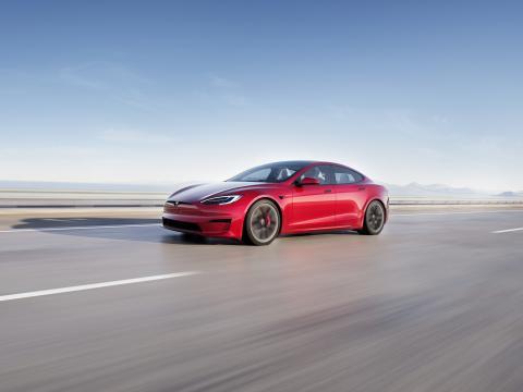 Jay Leno confirms Tesla Model S Plaid's 1/4 mile record