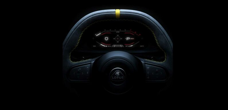 Lotus Emira Teaser Shows Paddle Shifters And Digital Dashboard