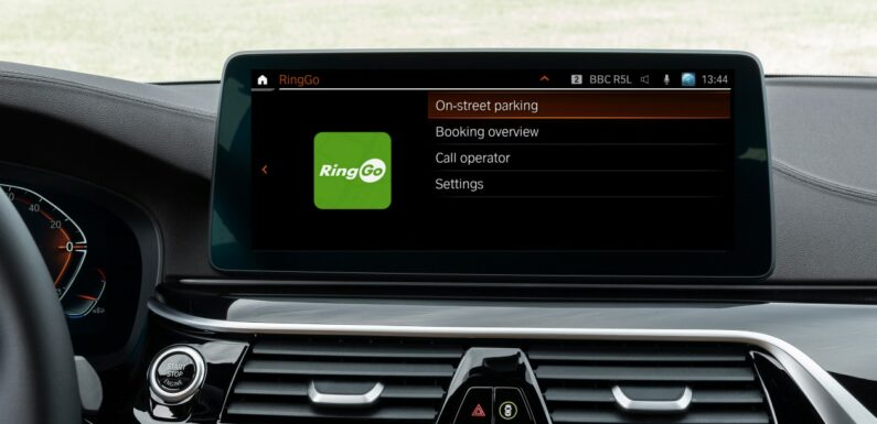Pay for parking from your car with BMW's new RingGo app integration