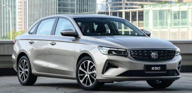 """Proton """"S50"""" sedan render – based on Geely Emgrand – paultan.org"""