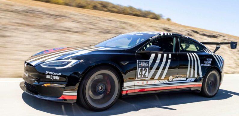 Unplugged Performance Tesla Model S Plaid Has Huge Wing, Slicks