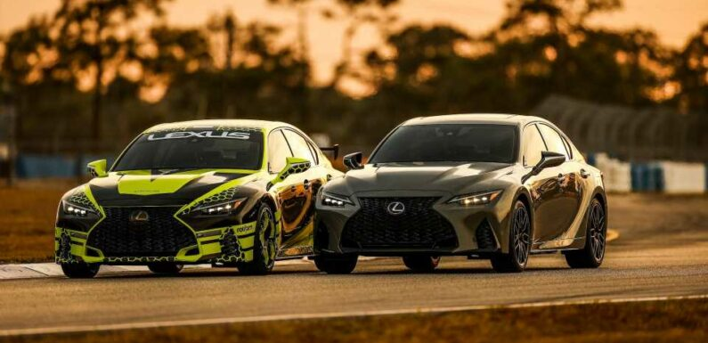 V8-Powered 2022 Lexus IS 500 Sounds Damn Good on the Track
