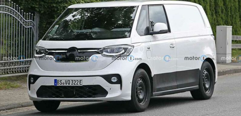 Volkswagen ID Buzz Spied With Production Body For The First Time