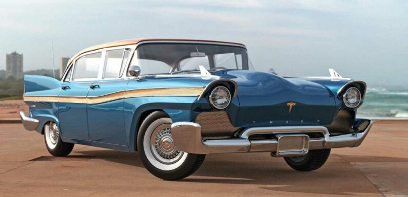What If: 1957 Tesla Model S Is The Futuristic Car From The Past
