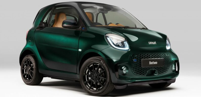 2021 smart EQ fortwo Racing Green Edition unveiled – paultan.org