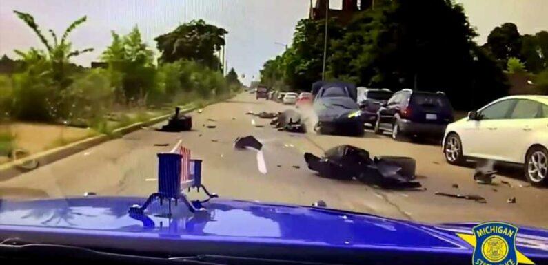 Corvette Stolen From Detroit Dealer Crashes After High-Speed Chase