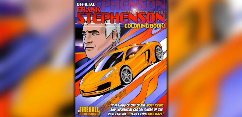 Famous Car Designer Launches Coloring Book Of His Best Designs