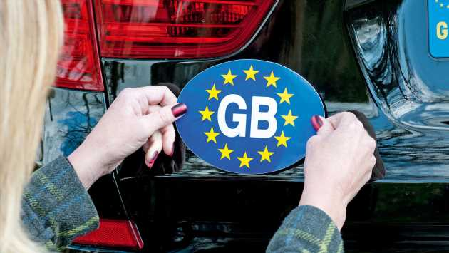 GB stickers no longer valid for driving abroad