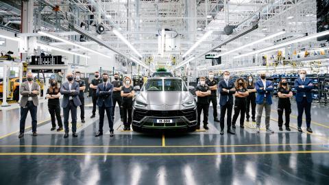 Lamborghini Urus achieves 15,000 units production milestone