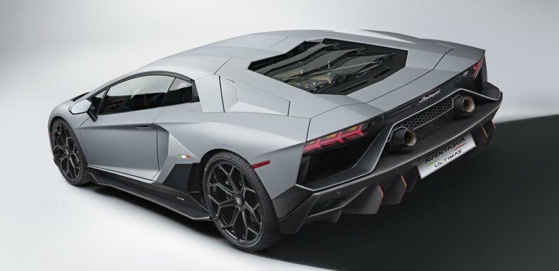 Lamborghini unveils run-out Aventador Ultimate