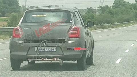 Maruti Swift CNG spotted on test