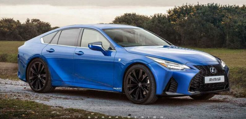 New Lexus GS Rendered Using Toyota Mirai Base, IS Cues