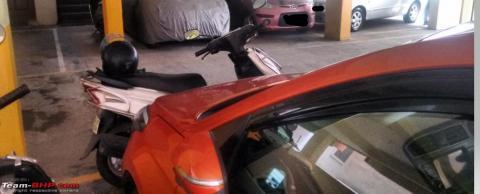 Parking my Hyundai Elite i20 using math calculations