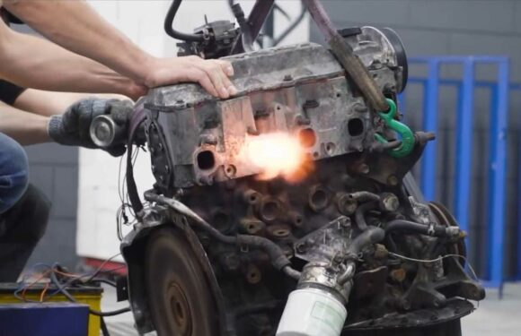 Russians Try To Convert A Toyota Diesel Engine To Run On Gasoline