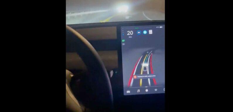 Tesla Model 3 With FSD Beta V9 Successfully Completes Fog Challenge