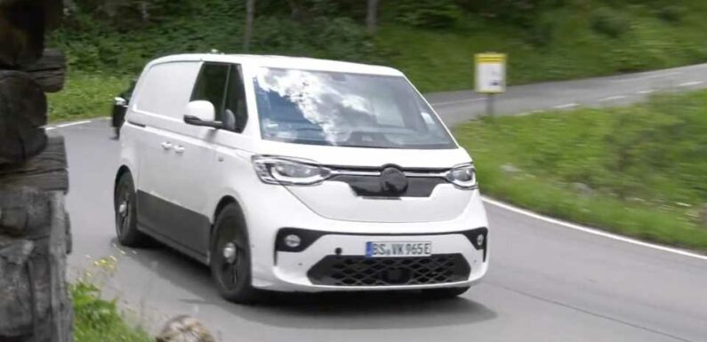 VW ID Buzz Prototype Spotted Testing Looks Unlike Concept