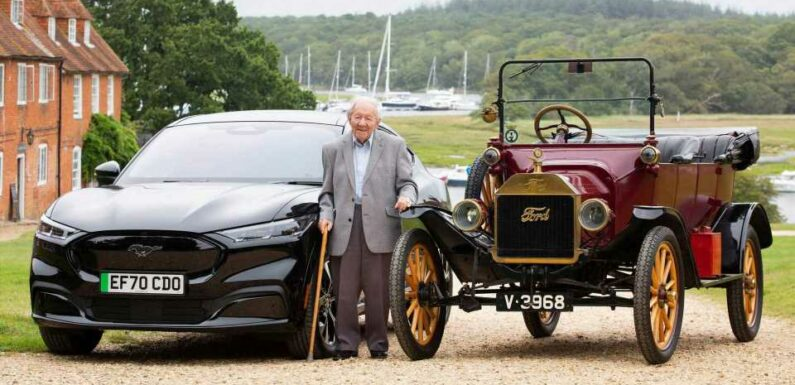 90 Years After Ford Model T, 101-Year-Old Man Drives Mustang Mach-E