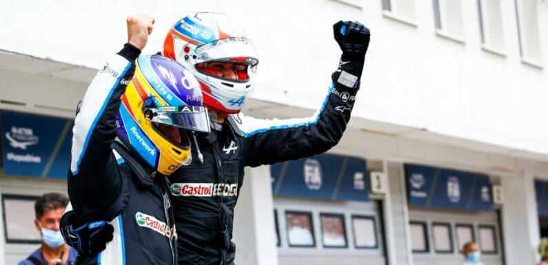 Fernando Alonso relives Hungary 2003 in Esteban Ocon win
