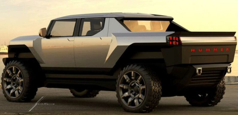 GMC Hummer EV Early Design Sketch Shows How Truck Could Have Looked