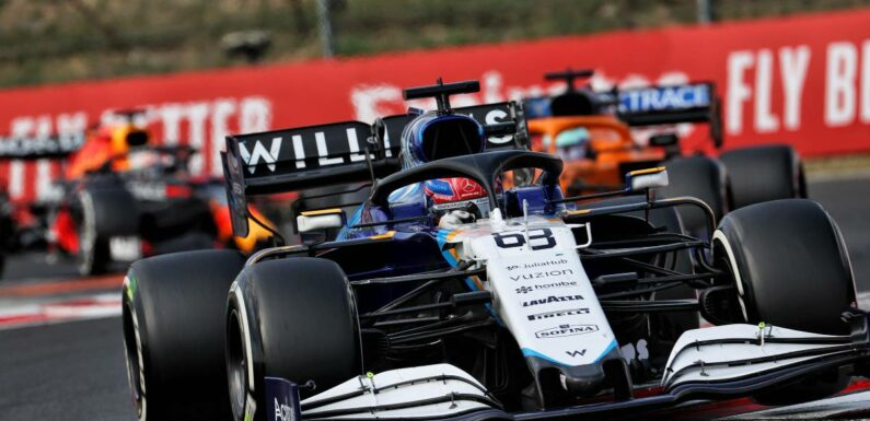 George Russell in tears after first points for Williams