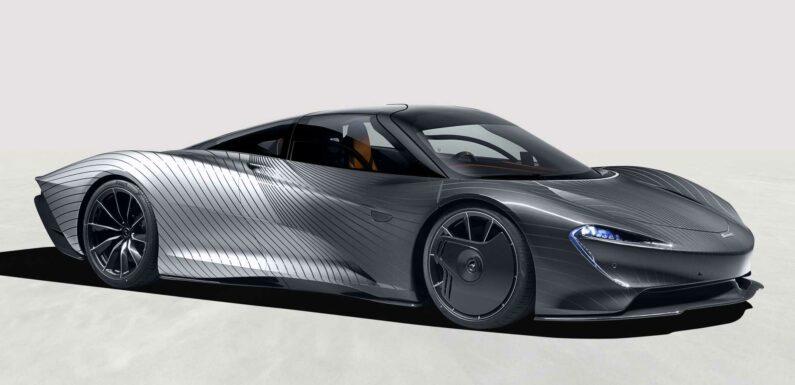 McLaren Speedtail Albert Debuts In Complex Paint Inspired By Camo Wrap