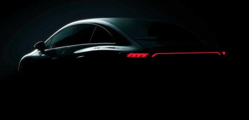 Mercedes-Benz's EQE Electric Sedan Goes Hyperscreen