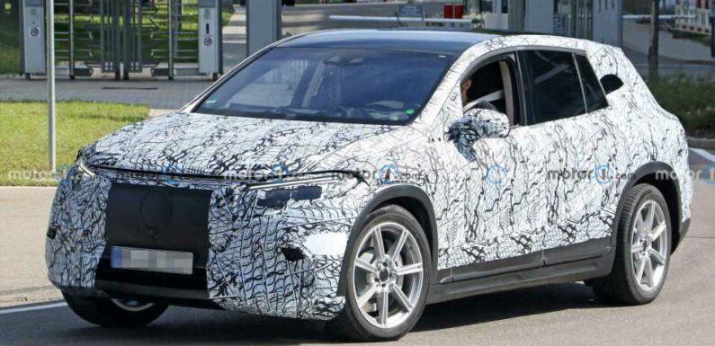 New Mercedes EQS SUV Spy Shots Capture It Testing In Light Camo