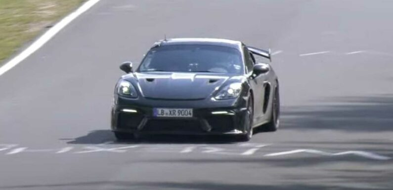 Porsche 718 Cayman GT4 RS Spied Testing At The Ring