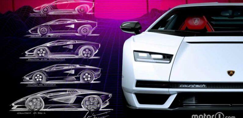 See Design Evolution Of Lamborghini Countach Over 50 Years