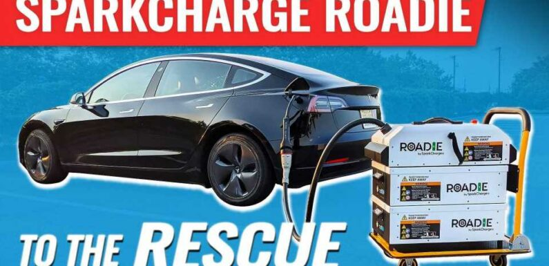 Tesla Model 3 Gets Saved By SparkCharge Roadie System
