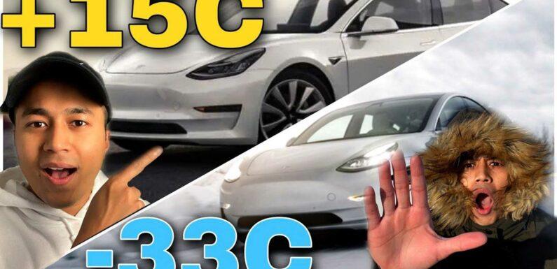 Tesla Model 3 SR+ Highway Range Test: Winter Vs Summer