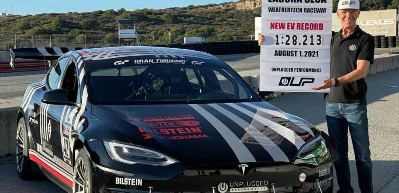 Tesla Model S Plaid Sets New EV Track Record At Laguna Seca