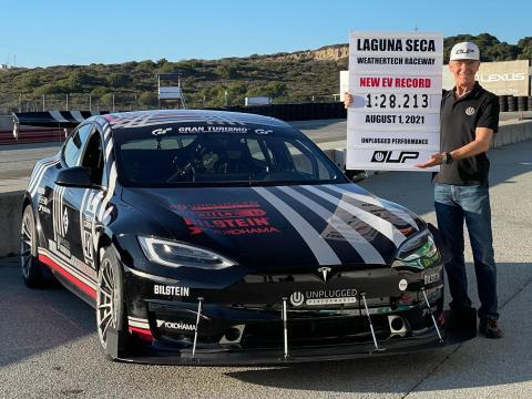 Tesla Model S Plaid sets new EV lap record at Laguna Seca