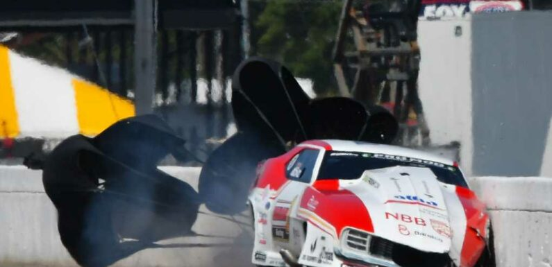 Video: NHRA Driver Unhurt in Odd Crash at Brainerd