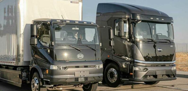 BYD Introduces Next Generation Electric Trucks At ACT Expo
