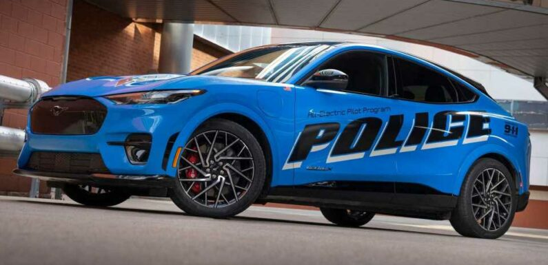 Ford Mustang Mach-E Gears Up For Testing As Future Police Car