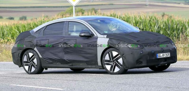 Hyundai Ioniq 6 Spied More Closely Resembling Prophecy Concept