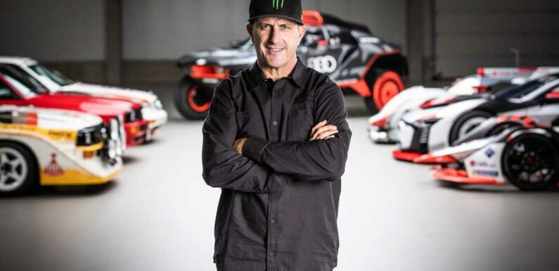 Ken Block Hooks Up With Audi for an Electric, Silly Future