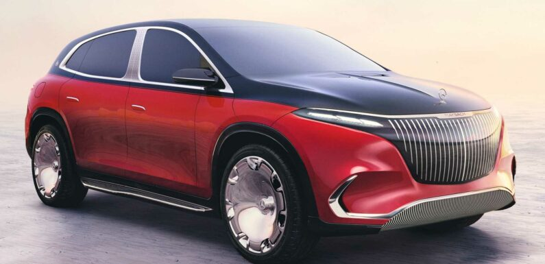 Mercedes-Maybach EQS SUV Concept Debuts As Smoothly Styled, Opulent EV