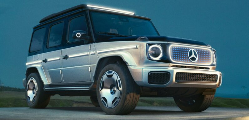 New Mercedes Concept EQG previews electric G-Class due in 2024
