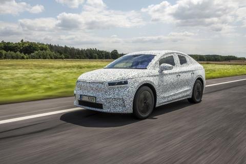 Skoda Enyaq Coupe iV teased ahead of 2022 unveil