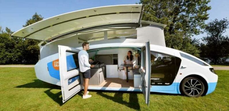 Solar-Powered Stella Vita Camper Has Pop-Up Roof, Pop-Out Panels