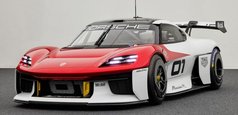 The 1000bhp Porsche Mission R Concept Is A Preview For The Cayman's EV Future