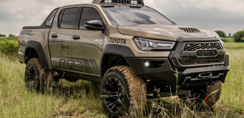 Toyota Hilux gets modifications from Thai outfit Rad – lift kit and widebody, plus deployable side steps – paultan.org
