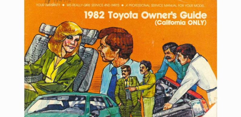 1982 Toyota Owner's Guide All About the Mobster Mustaches