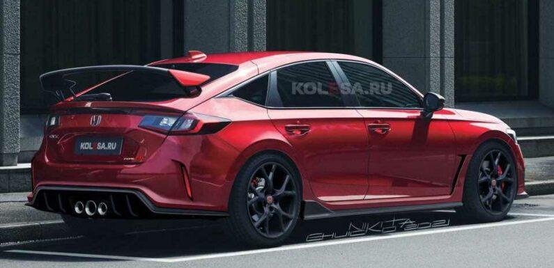 2023 Honda Civic Type R Loses Camouflage In Teaser-Based Rendering