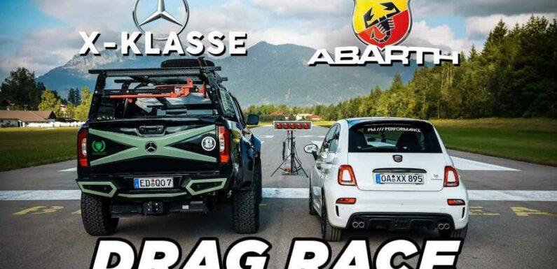 Abarth 595 Competizione Meets Mercedes X-Class In Unusual Drag Race